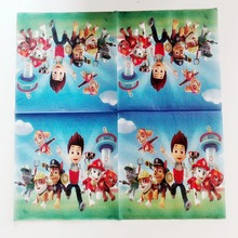 Patrol dog Paper Napkin Cartoon Party For Kids Birthday Decoration