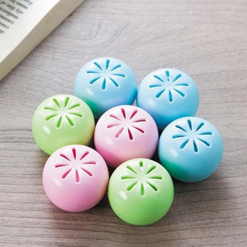 4 PCS Apple-Shaped Moth Balls Storage Box Prevent Insects Odor Removal