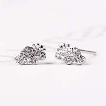 Stud Earring Crystal Zircon Silver 925 Earring Girls Fashion Jewelry Earrings For Women cute long chain silver stud earrings with bling zircon stone for women fashion jewelry korean earrings 925 silver