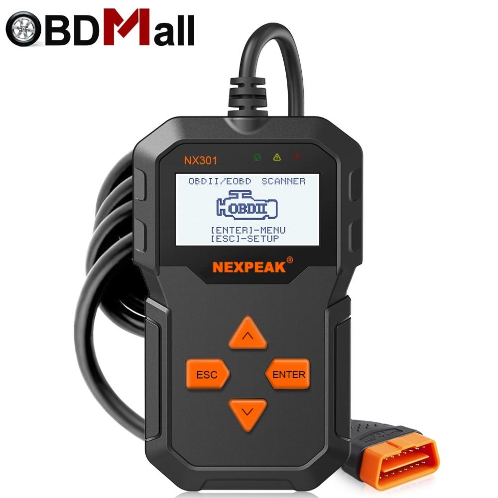 OBD OBD2 Scanner NX301 OBD 2 Voiture Outil De Diagnostic Code de Défaut Lecteur Multi-langue Portugais PK ELM327 Universel OBDII outil d'analyse