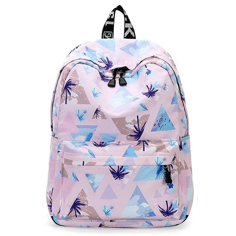 Fashion Water Resistant Nylon Women Backpack Tree Printing Female School Rucksack For Teenage Girls Daily College Laptop Bagpack