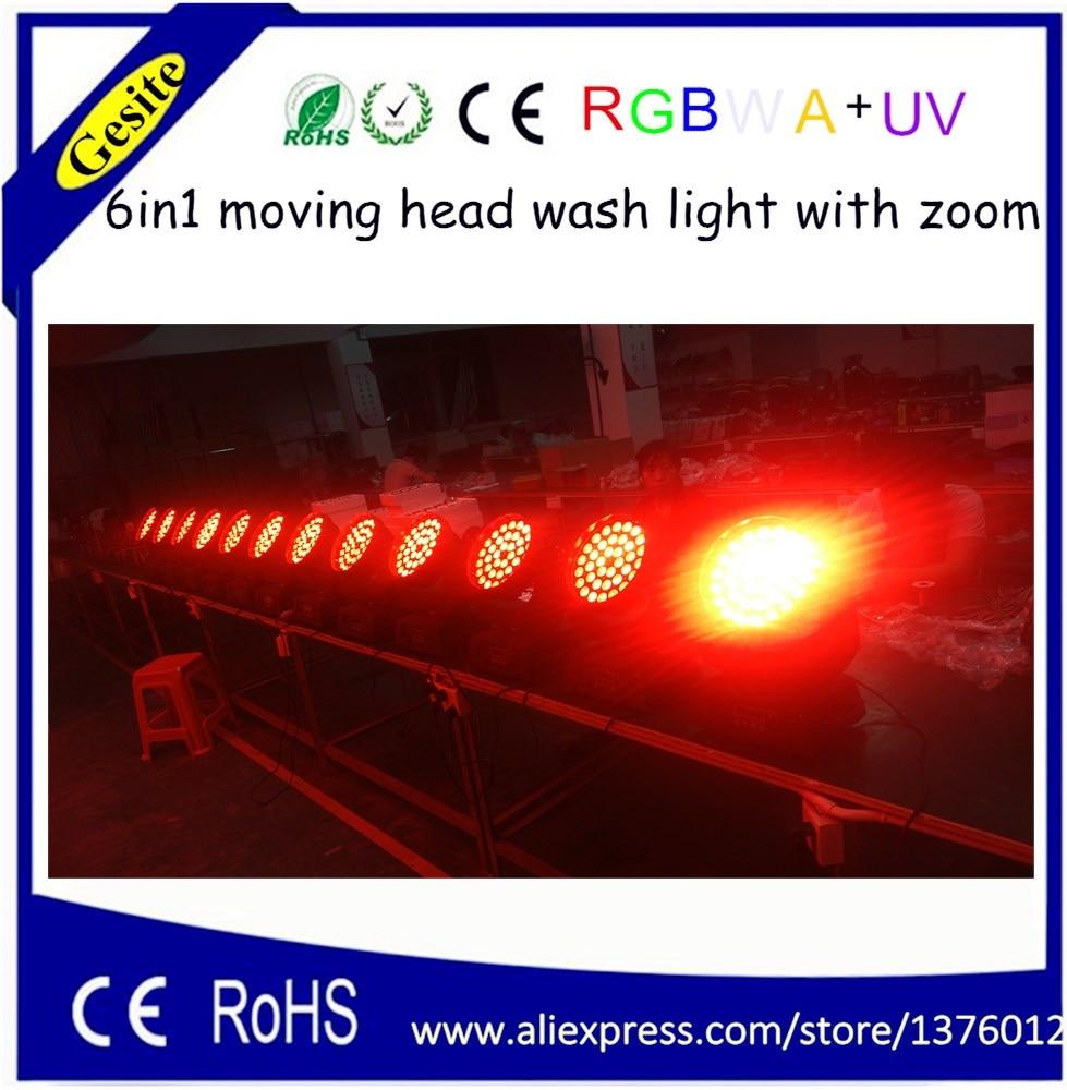AC 100-240V nelivärinen 36 * 18W RGBWA UV 6-in-1 LED-liikkuva päänpesuvalo sisäkäyttöön lava- ja klubi-dj profesional -valaistukseen