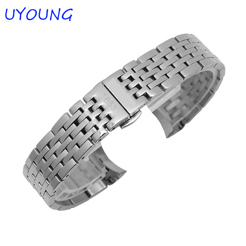 ФОТО  High Quality Stainless Steel Watchband 19mm Replacement Steel Watchbands For Tissot T41