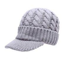 EFINNY, модная женская теплая зимняя шапка с козырьком, вязаные шапки, вязаная шапка, мужские, женские шапки, Casquette для женщин, мужская шапка s