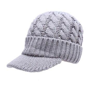 Efinnyмодная женская теплая зимняя шапка с козырьком вязаные шапки