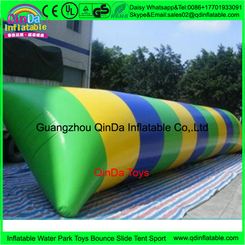 8m*3m 0.9mm PVC Inflatable Blob Jumping Water trampoline, Water Catapult Blob/Water Pillow/Inflatable Jumping Air Bag blob blob big yellow