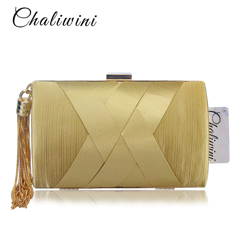 Fashion Women Bag Tassel Metal Small Day Clutch Purse Handbags Chain Shoulder Lady Evening Bags Phone Key Pocket Bags