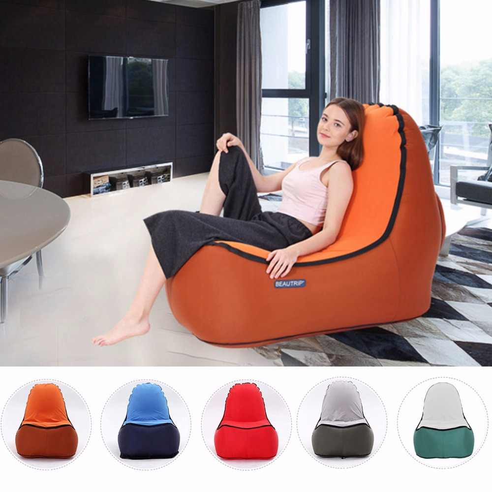 Indoor & Outdoor Hangout Inflatable Air Lounge Sofa Kursi Ruang Keluarga Bean Bag Lounger Camping Hiking Memancing Kursi Sofa Taman