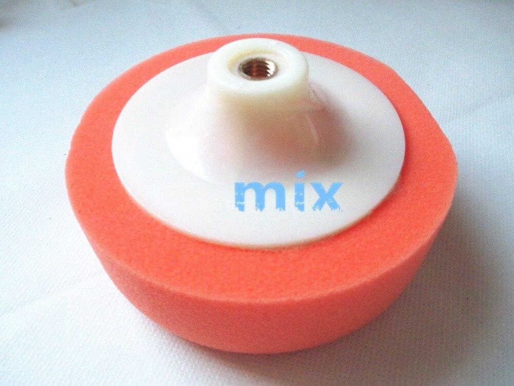 Fixmee 2pcs 5 Diameter Polishing Sponge Mop Buffing Pad Wheel Thread Car Machine Polisher