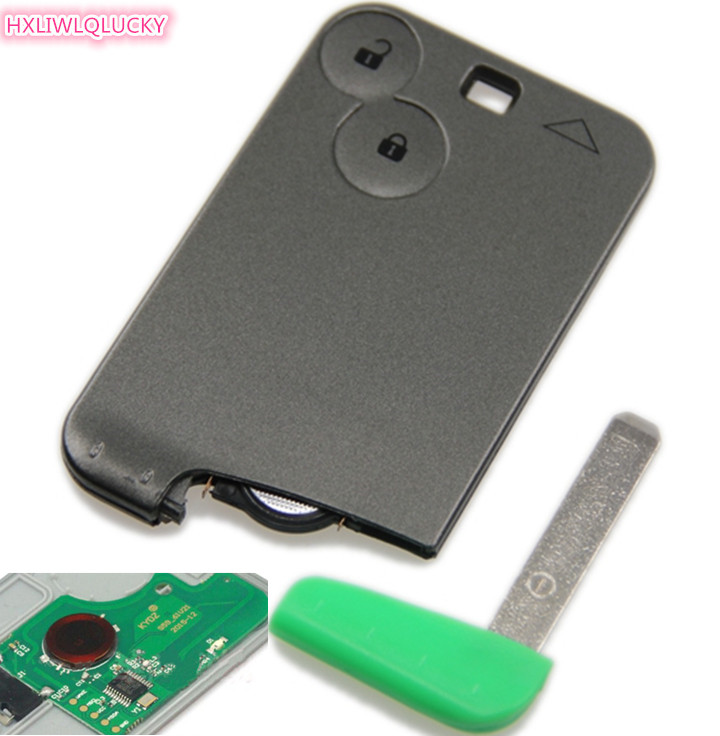 HXLIWLQLUCKY 2 Button Remote Card Smart Car Key 433MHz pcf7947 For Renault Laguna Free shipping цены