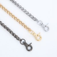 Free shipping High Quality bag metal strap bag accessories handbag snake chain handles and shoulder strap suitcase repair parts
