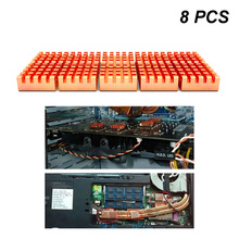 8pcs font b DDR b font Parts Mini font b Memory b font Heat Sink Conductive