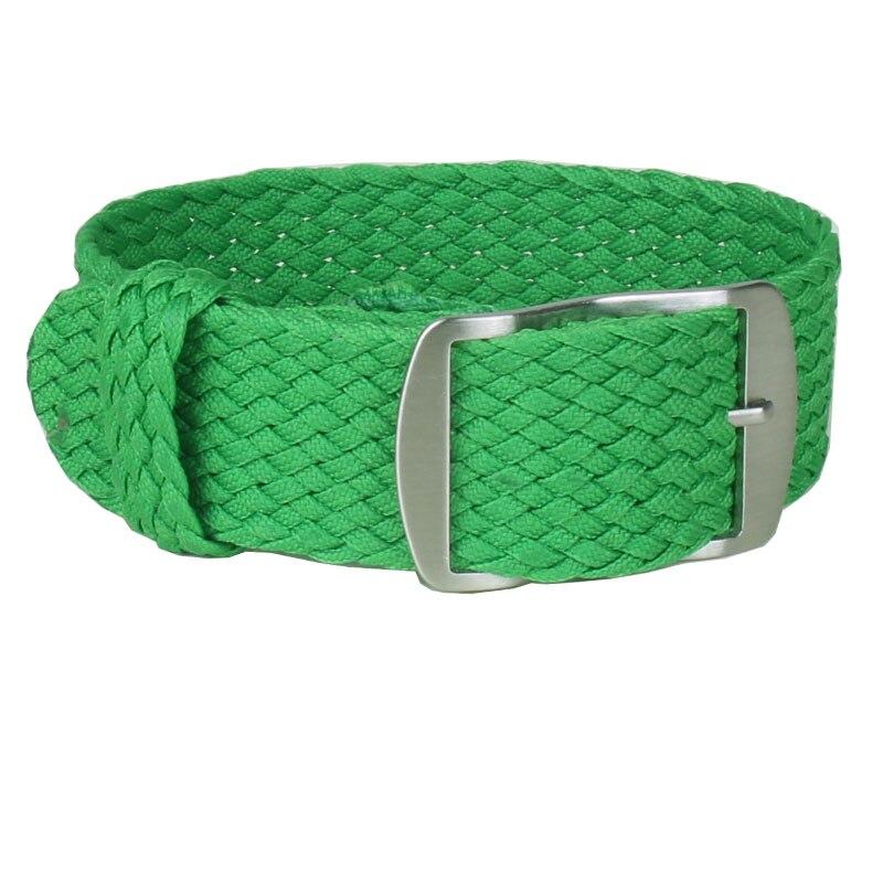 1 PCS / Wholesale Fashion Nylon Woven Watchband Watch Strap 20mm for Nato Perlon Watch Strap Grass green Color