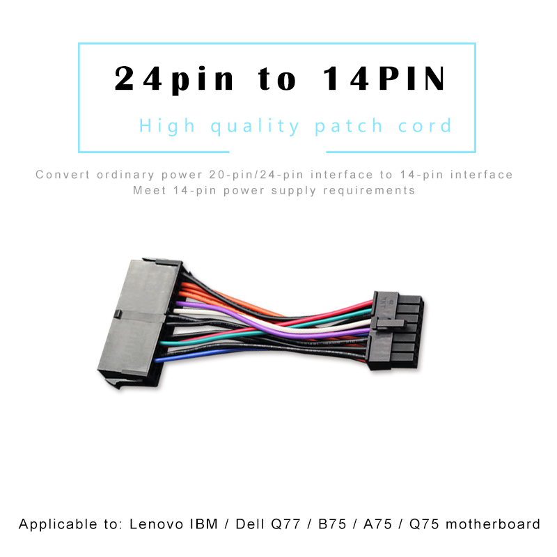 10PCS Power Supply Cable Cord 18AWG Wire ATX Motherboard 24Pin to 14Pin Adapter Cable for Lenovo IBM Dell Q77 B75 A75 Q75-in Computer Cables & Connectors from Computer & Office on AliExpress - 11.11_Double 11_Singles' Day 1