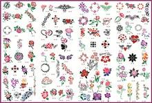 Template tattoo golden phoenix NO.10 airbrush tattoo stencils 100pcs flowers series picture