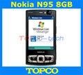 Nokia N95 8 GB Abrió El teléfono móvil 3G GSM Cámara de 5MP 8 GB de almacenamiento interno del teléfono celular WIFI GPS Envío Libre