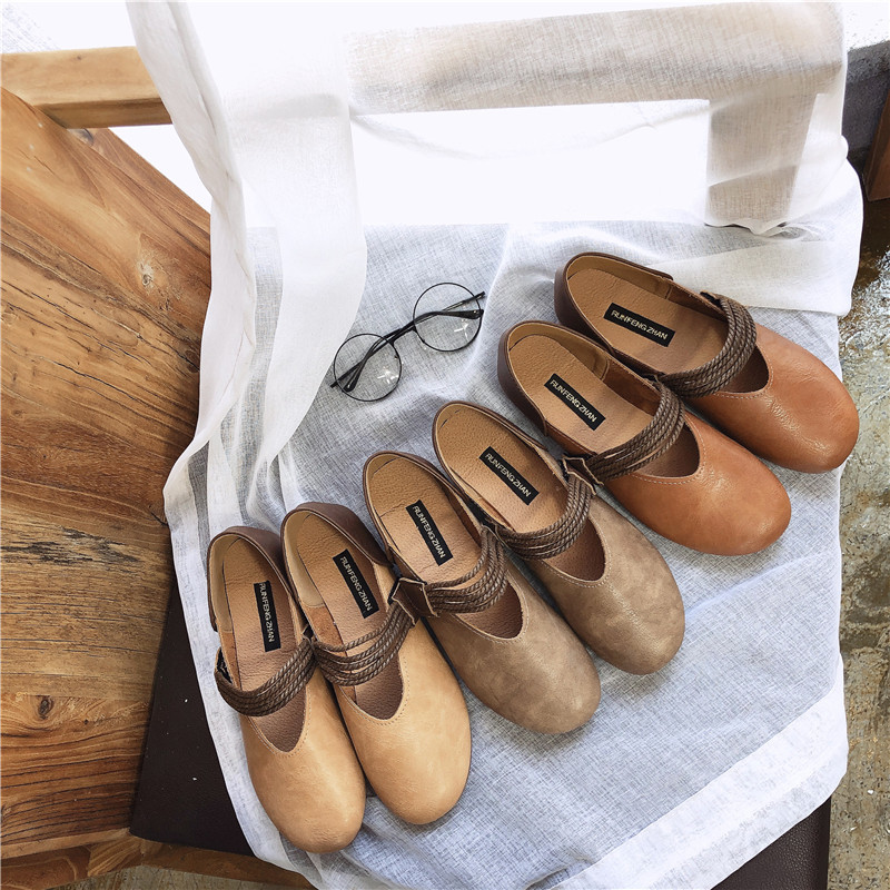 HKCP Fashion Female xia flat bottom restores ancient ways joker soft skin is low with temperament contracted odd shoe C031 in Women 39 s Pumps from Shoes