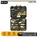 DEKO набор ручных инструментов для домашнего ремонта, набор ручных инструментов с пластиковым ящиком для инструментов, чехол для хранения пл...