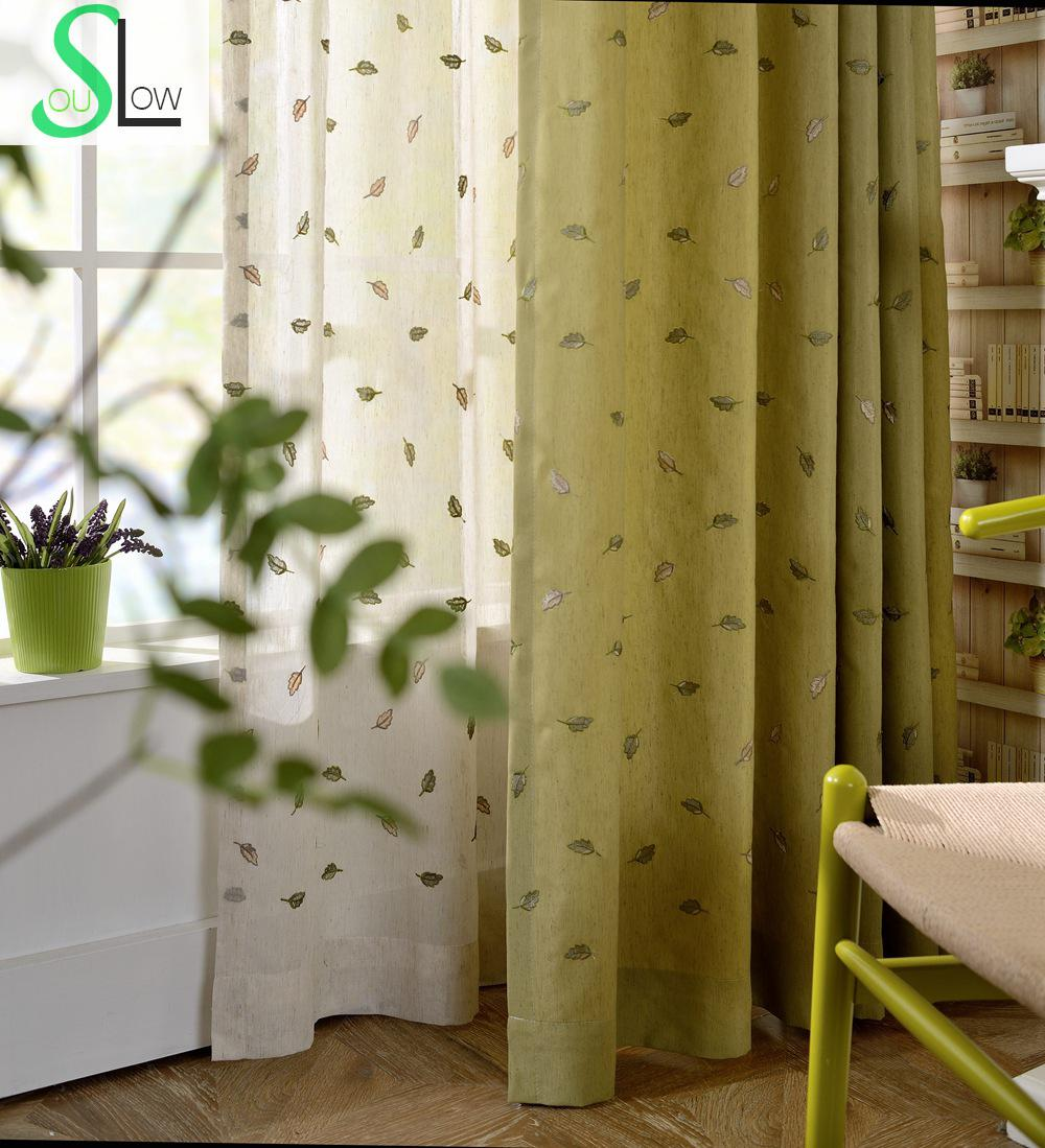 Damask curtains living room - Cotton Embroidery Lobular Texture Curtain Leaves Embroidered Pastoral Window French Curtains Sheer Bedroom Living Room For