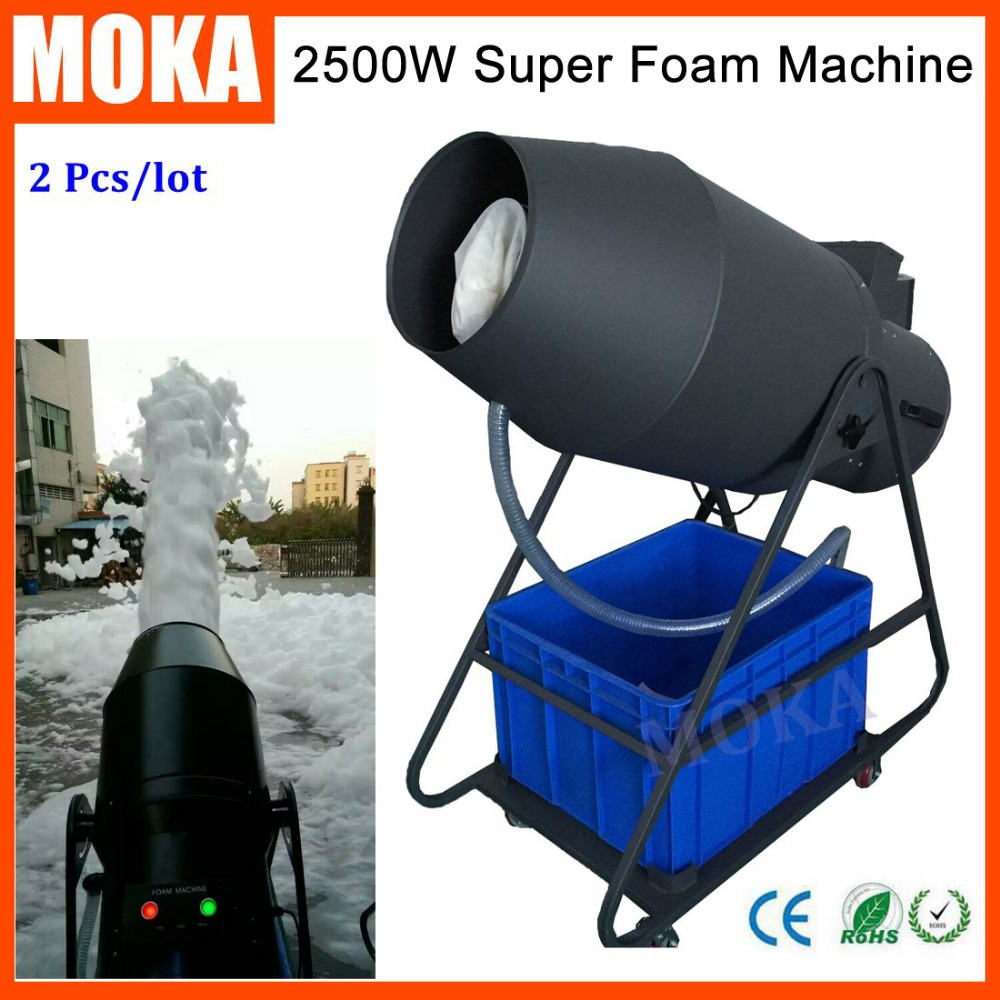 2 Pcs/lot 2500W Foam Machine Party High Power Bubble Blower Machine Power Control Stage Effect Equipment Outdoor Events