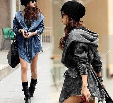 długie kurtki jeansowe damskie ali expres