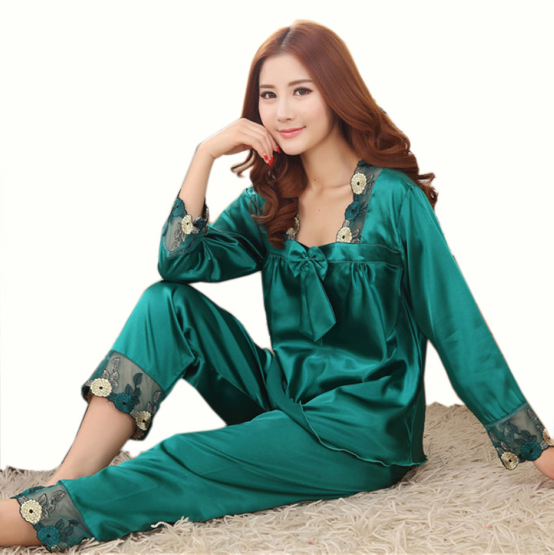 Online Buy Wholesale womens silk pajamas from China womens silk ...