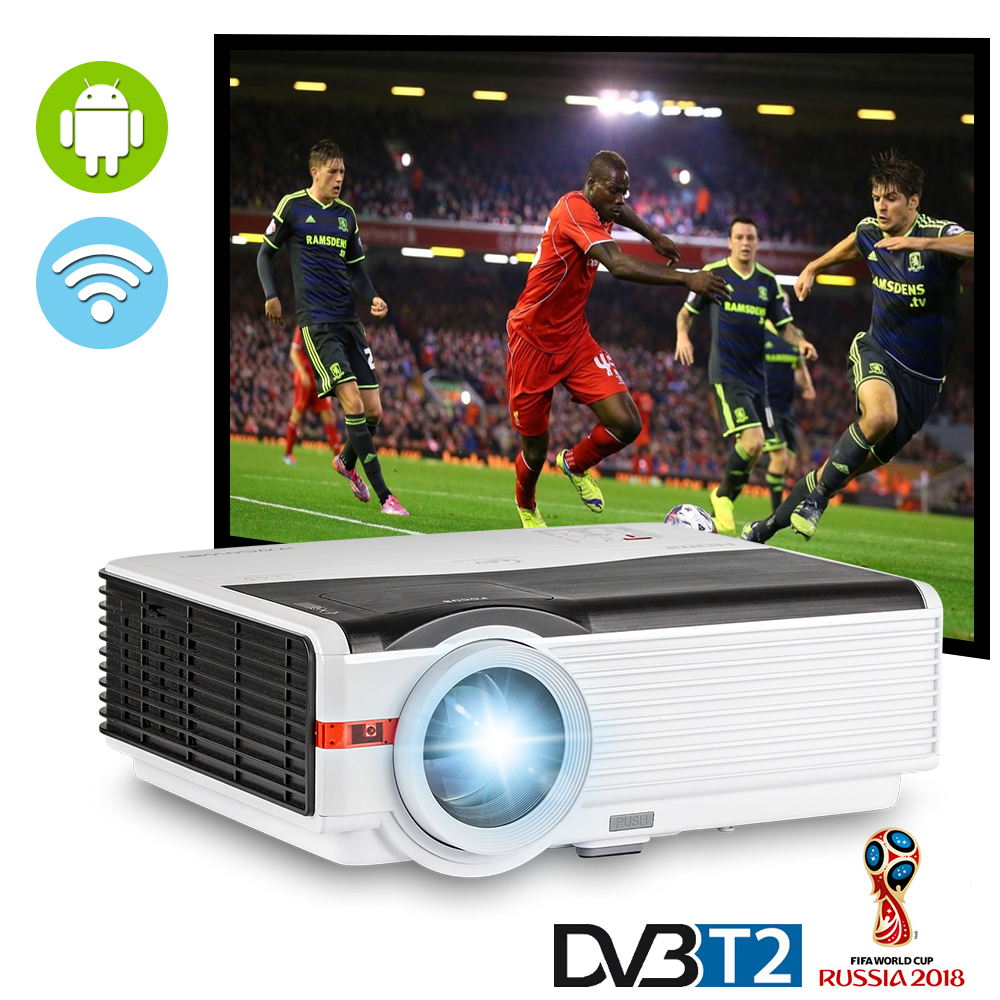 Caiwei Home Use Dvb T2 Projector Led Lcd Digital Tv: DVB T2 Android WIFI LED Smart Home Theater Projector