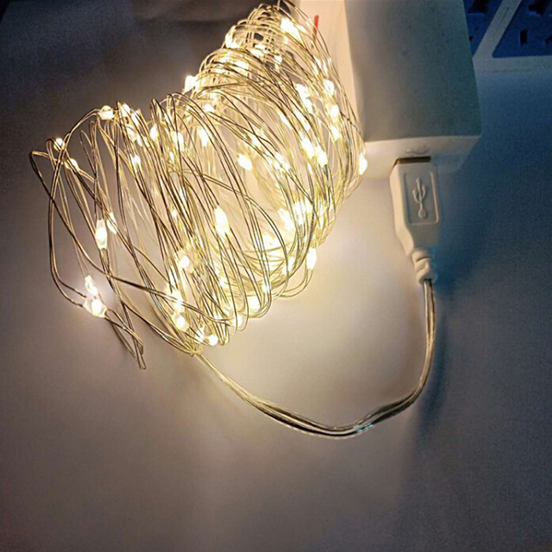 2M 20Led 3M 30Led USB Operated Mini LED Copper Wire String Fairy LED Lights