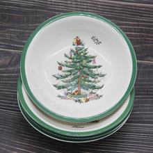 Set of 4 classical Ceramic Christmas Tree Bowl Tableware Dessert bowl vegetable salad kitchenware Tool 6 inch Ramen