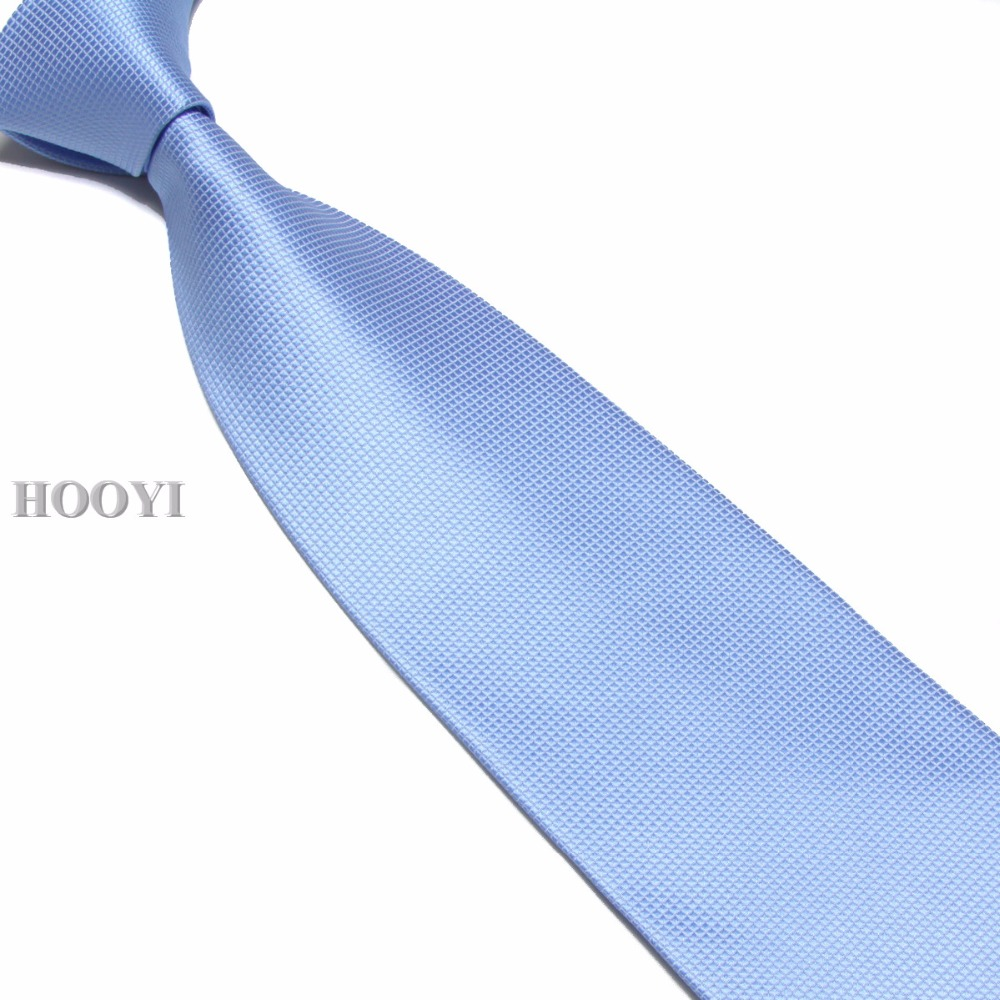 HOOYI Solid Wide Ties For Men Classic Neck Tie Mariage Office Necktie Polyester Gift Wedding Gravata 10cm Width