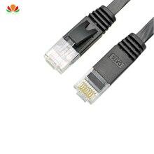 25 cái/lốc 0.5ft 0.15 m 0.8ft 0.25 m UTP flat CAT6 Cáp Mạng Máy Tính Cáp Gigabit Ethernet Dây Patch RJ45 LAN twisted cặp