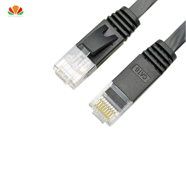 25pcs 0.15m 0.2m 0.25m 0.3m flat UTP CAT6 Patch Cord Network Cable Computer Cable Gigabit Ethernet RJ45 connector twisted pairs