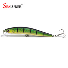 Sealurer Minnow Fishing Lure 7.5g 10cm Floating Wobble Fly Fishing Carp Hard Bait Crankbait Fishing Tackle 5Color Available