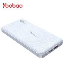 Yoobao Q12 Quick Charge 2.0 12000mAh Portable External Battery 5V/9V/12V USB Dual Mobile Powerbank for iPhone Samsung Xiaomi LG цена 2017