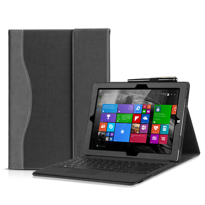 Premium Pu Leather Sleeve Tablet Cover Case For Microsoft Surface Pro 3 12 Surface Pro3 Fashion