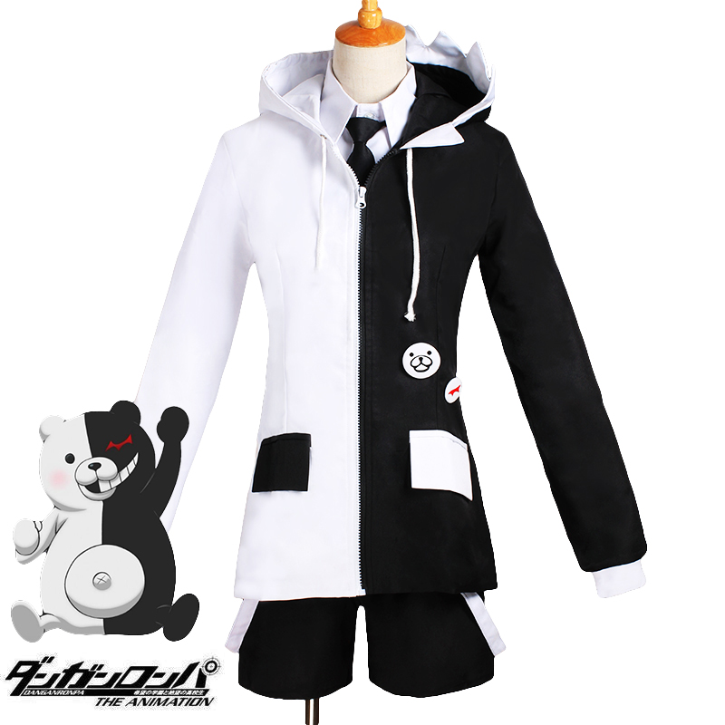 Cheap NewSuper Dangan Ronpa Danganronpa Monokuma School Uniform Outfit Cosplay Costumes Unisex Cloths Free Shipping CM013