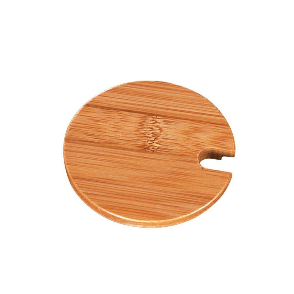 Natural Environmentally Friendly Bamboo Cup Cover Coaster Barrel Lid Cover Seal Cover Mug Cover