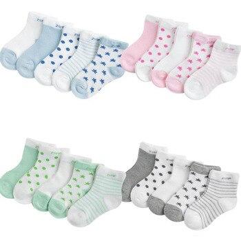 0-3Y 5 Pairs/lot Infant Baby Socks Cute Summer Breathable Mesh Sock Cotton Newborn Boys Girls Short Socks