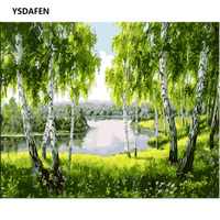 YSDAFEN Forest Landscape DIY Digital Painting By Numbers Unique Gift Acrylic Picture Modern Wall Art Hand
