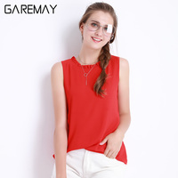 GAREMAY Chiffon Blouse Shirt Women Spring 2016 New Chemise Femme White Plus Size Tops Fungus Stand