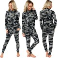 Fashion Summer Spring Autumn Newest Women's  Casual Suit Camouflage Leisure Suit