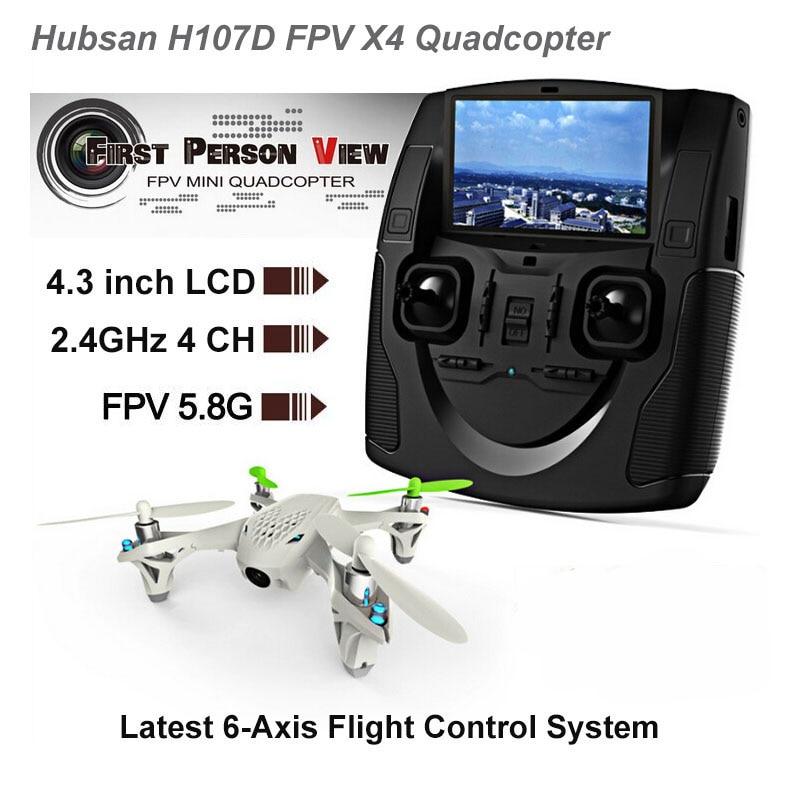 Original Hubsan H107D RC Mini 5.8G FPV RTF 6-axis System Quadcopter w/ LCD Transmitter Camera Hubsan X4 H107D RC Quadcopter get an extra battery original hubsan fpv x4 plus h107d with 720p hd camera 6 axis gyro rc quadcopter rtf in stock