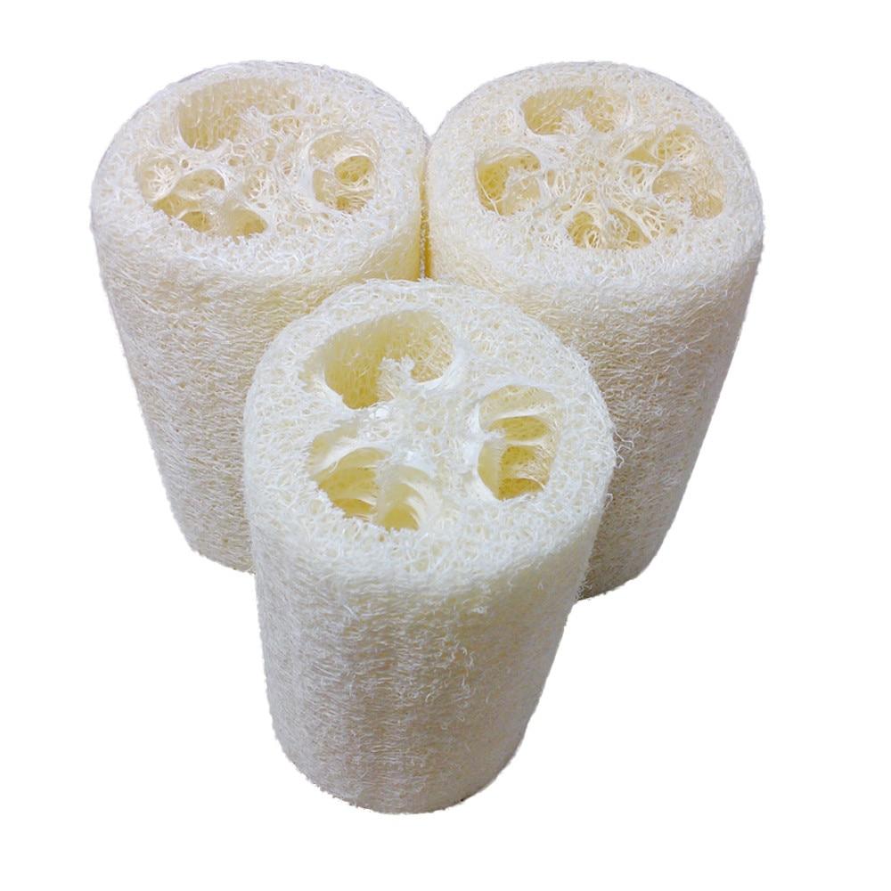 10CM Natural Bath Body Shower Sponge Scrubber Natural Loofah Luffa Loofa Bathing Massage Body Sponge Scrubber Bowl Pot Washing
