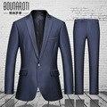 2016 nova primavera business casual terno dos homens vestido de noiva pura maré magro duas peças