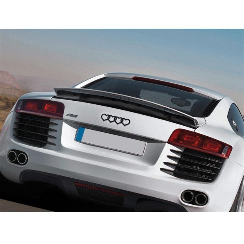 Araba Sytling Kuyruk Amblem Kapak Kalp Amblem Çıkartmaları Audi A4 için Uygun A6 TT Q3 Q5 Araba Aksesuarları