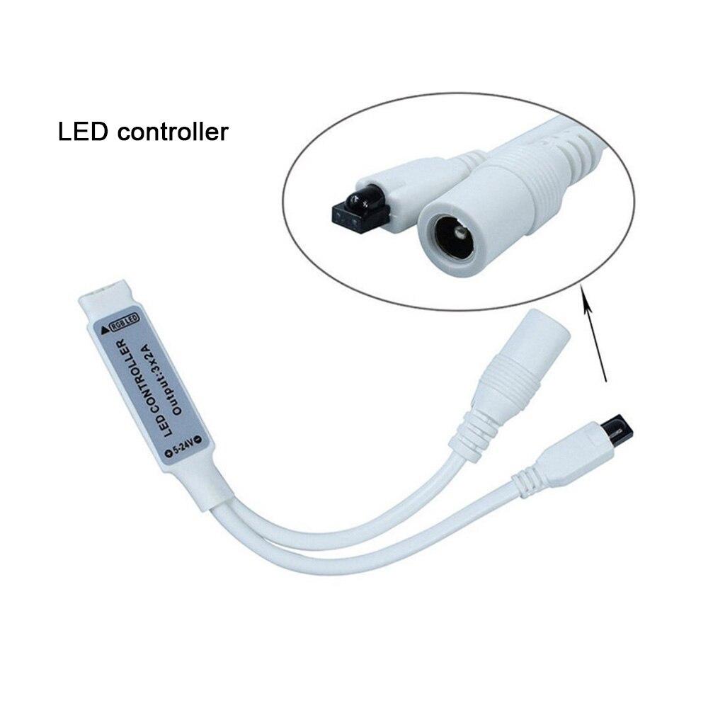 HTB1IUeibbr1gK0jSZR0q6zP8XXaa 5 meter 300Leds Non-waterproof RGB Led Strip Light 2835 DC12V 60Leds/M Flexible Lighting Ribbon Tape +24key Controller fita led