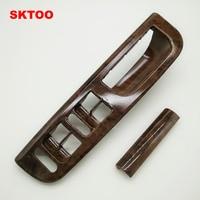 SKTOO Mahogany Inside Door Handle Handrails Shake Decorative Cover For Vw Passat B5 1GD 867 171