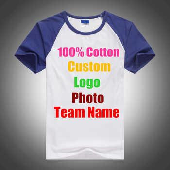 Class Uniform personalized Text Team T-shirts Cotton Unisex Custom Logo Photo Print Men Women T shirt Raglan Sleeve Female Tops - DISCOUNT ITEM  30% OFF All Category