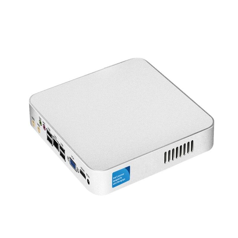 XCY Mini PC Windows 10 Celeron 1017U Dual Cores Mini Desktop PC 4GB RAM 120GB SSD HTPC Nettop HDMI VGA Dual Dispaly WiFi TV BOX
