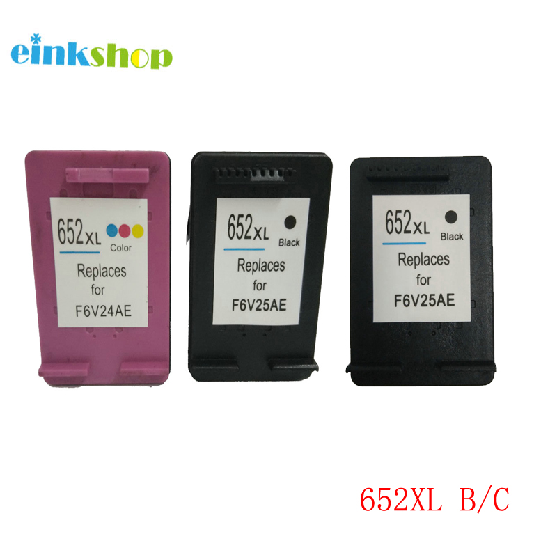 Einkshop 652xl Deskjet4535 Remanufaturados Cartucho de Tinta Para HP 652 xl 4536 4538 4675 4676 4678 1118 2135 2136 printer